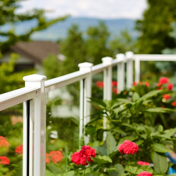 Aluminium balcony railings
