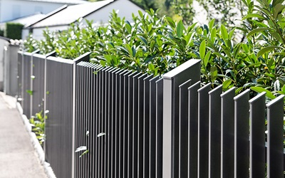 Aluminium rectangular bar railings