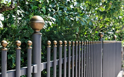 Aluminium round bar railings